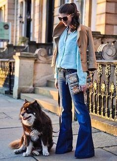 Rockin the 70's Wide Leg Denim Looks