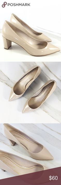 Enzo Angiolini EAJYSSIKA Cream Color. Worn Once. Gorgeous shoes. Perfect for work. Absolutely like new perfect condition. Good for someone with fairly narrow feet. Low heel. Enzo Angiolini Shoes Heels