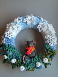 Winter Wreath | Made and designed by me. Patterns for snowfl… | Flickr