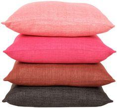 raw silk pillows