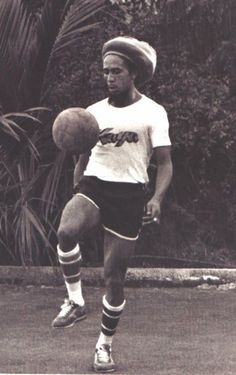 Bob Marley playing soccer!