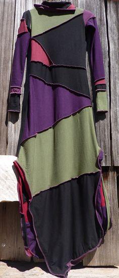ooak long sleeve scrap art  wearable art faerie pixie by Pixiwitch, $139.00