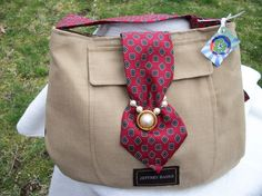 Recycled men's suit purse by shardworks