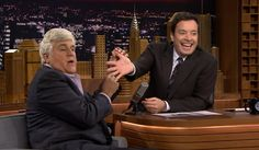 The Tonight Show with Jimmy Fallon  had a very special guest on last night. Former host Jay Leno was interviewed on the late night program for the first time since leaving  The Tonight Show , and he spent the majority of the interview poking fun at his predecessor.