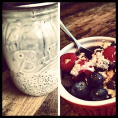 Chia Pudding for Chia Mash. An easy breakfast or snack. Make once, eat all week. #CookatHomeChallenge