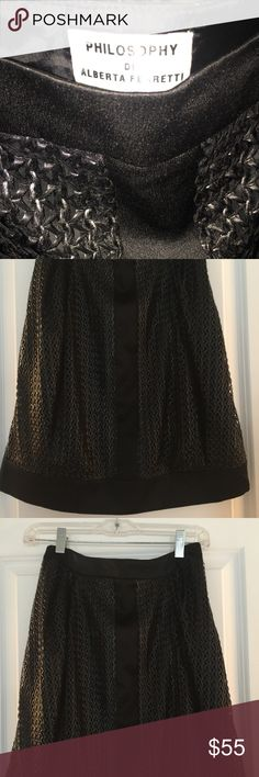 Philosophy  Di Alberta Ferretti Skirt Gorgeous NWOT black mini. Perfect for holidays! Mini but not too! Perfect length ! Alberta Ferretti Philosophy Skirts Mini