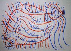 """Sgorbio VI"" 2012 Matita a colori su carta 21x29,5 ©Pietro Gargano"