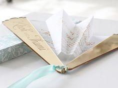 Wedding Invitations   Wedding Stationery   South Africa   Secret Diary   Fan invitation – Kholi and Thami