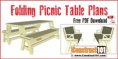 Free Furniture Plans Pdf - Free Furniture Plans Pdf , Pin On My Craft Lean To Shed Plans, Shed Building Plans, Diy Shed Plans, Coop Plans, Folding Picnic Table Plans, Picnic Table Bench, Bbq Table, Folding Tables, The Plan