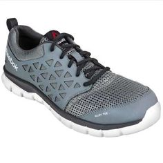 5d91fe9c040 Reebok Shoes  Men s EH RB4042 Grey Sublite Cushion Alloy Toe Athletic Shoes