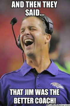 John laughing on the field Nfl Playoffs, Nfl Football Teams, Football Baby, Football Memes, John Harbaugh, Ed Reed, Funny As Hell, Funny Shit, Funny Stuff