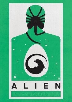 A Print Inspired By Ridley Scott's 1979 Sci-Fi Horror Film Alien.