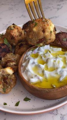 Mediterranean Chicken, Mediterranean Diet Recipes, Appetizer Recipes, Dinner Recipes, Appetizers, Chicken Meatballs, Cooking Recipes, Healthy Recipes, Greek Recipes