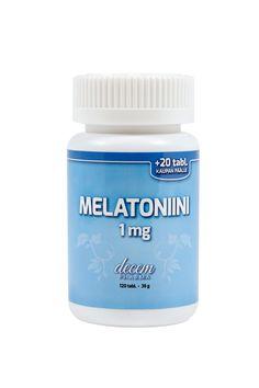 Melatoniini Decem Pharma 1 mg, 9,75 €. Helposti nieltävä melatoniinitabletti, joka auttaa lyhentämään nukahtamisaikaa ja lievittämään aikaerorasituksen oireita. Pakkauksessa 120 tablettia. Norm. 19,45 €.  APTEEKKI TÖÖLÖ, E-TASO