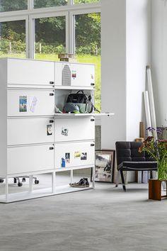 Office, Shelving, Lockers, Loft, Storage, Bed, Design, Furniture, Home Decor