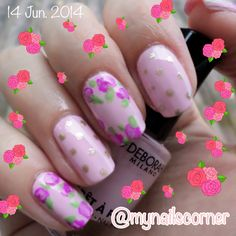 Nail art punk polka dots flower FOLLOW @mynailscorner on instagram!!!!