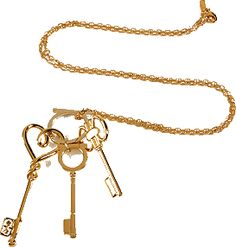 Pretty keys on a chain