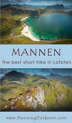 the best viewpoint in Lofoten - short hike to Mannen at Haukland Beach.how to get there,hiking route Lofoten, Hiking Routes, Arctic Circle, Best Hikes, Roadtrip, Amazing Nature, Outdoor Activities, Us Travel, Norway