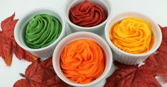 How to Make Fall Harvest Frosting - use our formula to make delicious and gorgeous Fall Harvest colored frosting for Fall and Thanksgiving desserts. Best Buttercream Frosting, Frosting Colors, Orange Frosting, Homemade Frosting, Frosting Recipes, Thanksgiving Desserts, Fall Desserts, Icing Color Chart, Fall Snacks