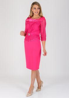 ddd43fef787154 Veni Infantino for Ronald Joyce Striped Mesh Dress