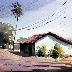 sikander_watercolor_artist  #watercolorpainting #watercolorart #drawing #portrait #painting #india #indianart  #indianculture  #landscape #himachal #himachalpradesh #Watercolour #watercolor  #art #artindia #drawing #beauty #indianculture #village #punjab