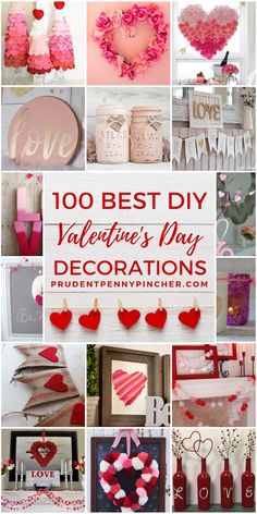 Spread the love with these easy DIY valentine's day decorations. From rose wreaths to heart garlands, there are plenty of romantic valentine's day decor ideas for the home to choose from. valentines day party dekor 100 Best DIY Valentine's Day Decor Ideas Valentine Day Wreaths, Valentines Day Party, Valentines Day Decorations, Valentine Day Crafts, Holiday Crafts, Homemade Valentines, Funny Valentine, Jar Crafts, Crafts For Kids