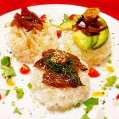 カツオの3国各種ポキ風プレート(๑′ᴗ‵๑) by powerangix at 2014-6-2  カツオ料理第四弾!ヅケカツオの3国各種ポキ風プレート【ある日のカフェ飯:012】 | カフェ飯 | a+cafe(あとカフェ) http://atcafe.dualing-am.com/cafemeshi/zukekatuo_poke_plate/