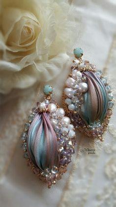 Shibori silk earrings design by Mhoara Jewels