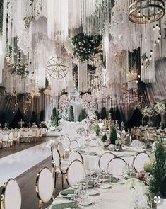 Luxurious wedding ceremony ceremony and reception ornament concepts Ooh la la! Get excited to see these completely beautiful wedding ceremony dec… Wedding Venue Decorations, Wedding Reception Venues, Wedding Ceremony, Reception Backdrop, Table Decorations, Receptions, Wedding Locations, Wedding Wows, Trendy Wedding