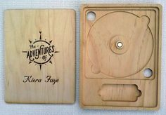 Custom CD/DVD Case with USB pocket, laser etched wood, personalized with graphic… Usb Packaging, Wood Packaging, Packaging Design, Vintage Advertising Posters, Vintage Advertisements, Cd Album Covers, Cd Cover, Cd Design, Cnc