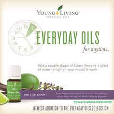 I love the smell of Stress Away <3 I add this to my wrist before work, during lunch and diffuse it with joy before bed. Want more tips on how to use oils? www.youngliving.org/eyedo09