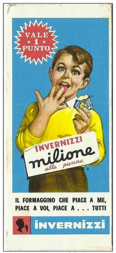 Invernizzi-million cheese , Vintage Italian Posters, Vintage Advertising Posters, Old Advertisements, Poster Vintage, Images Vintage, Vintage Ads, Vintage Designs, Nostalgia, Original Vintage