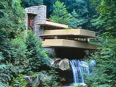 Fallingwater - 1.5 hours south of Pittsburgh. Designed by Frank Lloyd Wright