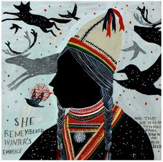 Sami Girl print by Diana Sudyka