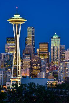 Downtown Blue Hour Seattle, Washington, USA