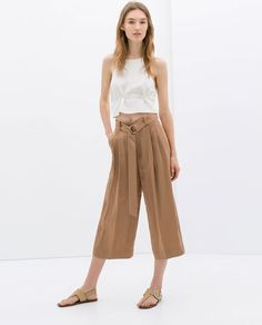WIDE TROUSERS WITH BELT from Zara
