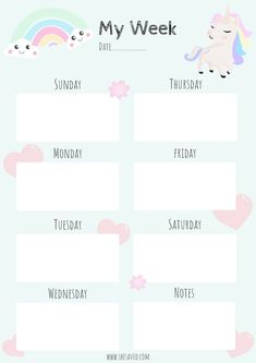 Happy planner printables - Get Organized! FREE Printable Unicorn Calendar Pages – Happy planner printables