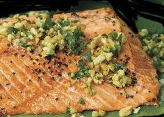 Once you have tried this fantastic Baked Salmon Piccata, it will be one of your favorite ways to cook salmon! Baked Salmon Recipes, Fish Recipes, Seafood Recipes, Healthy Recipes, Seafood Dishes, Yummy Recipes, Salmon Piccata, Salmon On The Stove, Recipes