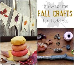 From pumpkin spice play dough to pressed leaf garland, your little one will love these fall crafts! #fall #kids #crafts