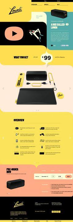 Lowdi - Bluetooth speaker - Best website, web design inspiration showcase
