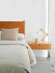 Inside The Albert Park Project - with GlobeWest Diy Blinds, Diy Curtains, Timber Outdoor Furniture, Small Room Bedroom, Bedroom Decor, Globe West, Albert Park, Plush Carpet, Kitchen Stools