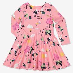 Lasten kuviollinen mekko | Polarn O. Pyret
