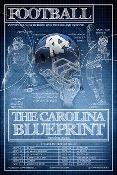 """The Carolina Blueprint"" 2012 Football Spring Game Poster"