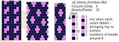 Schlauchketten häkeln - Musterbibliothek: kleine rhomben