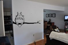 Im pretty sure i need this....My Neighbor Totoro Wall Decal by NamelessVinyl on Etsy, $29.99