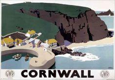 Cornwall: vintage poster