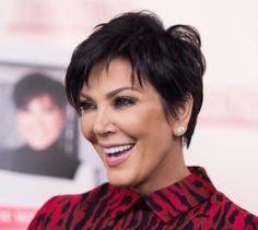 20 Gorgeous Short Haircuts for Women Over 50: Kris Jenner's Short, Edgy Haircut