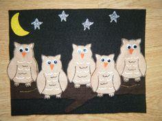 Five Little Owls: Felt Board Ideas