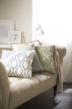 Every sofa is begging for a new, ahh-inducing look. Give it. #Home