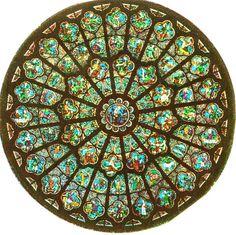Paris; Notre Dame Rose Window: